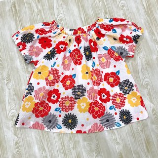 Flower Bubble Cloak Sleeve Top