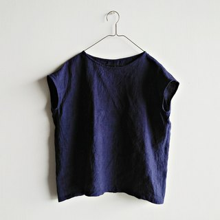 Square top linen dark blue