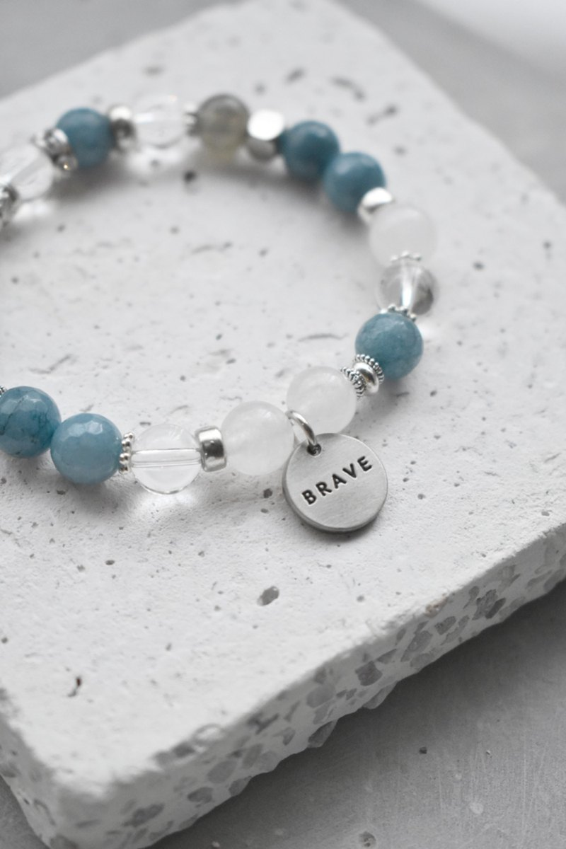 ZHU.Handmade Bracelet | Floating Ocean - Shallow Sea (Christmas Gift / Couple / Sister / Natural Stone)
