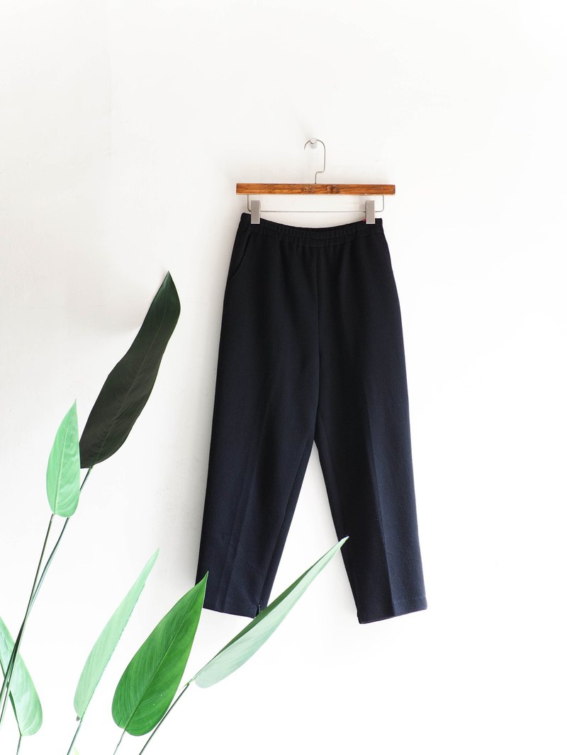 Rivers and mountains - Tokyo youth black simple time imitation wool antique ab trousers vintage denim pants vintage