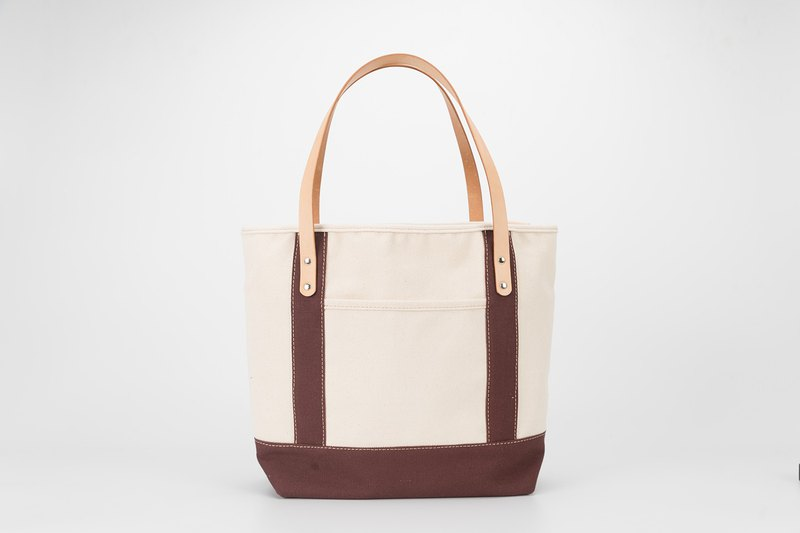 [Canvas meets leather] Handbag large-capacity wild tote bag can be placed on the shoulder A4