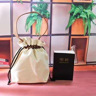 Canvas flower bunch bag pocket tote bag can be used as a Bible bag