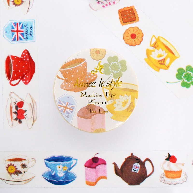 Aimez le style paper tape - tea time <A03461>