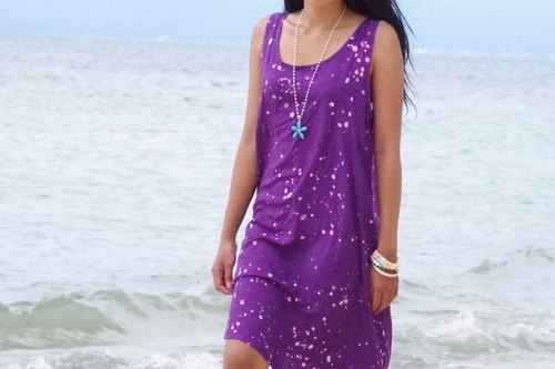 Batik Sleeveless frame address <Violet>
