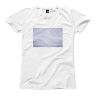 A scene at Sea - White - female version of T-shirt