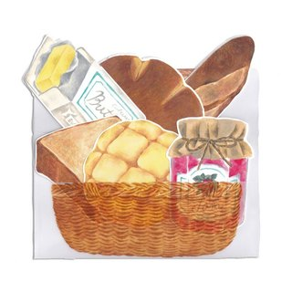 Cards to buy in a bakers A basket (envelope) as  assorted delicious bread