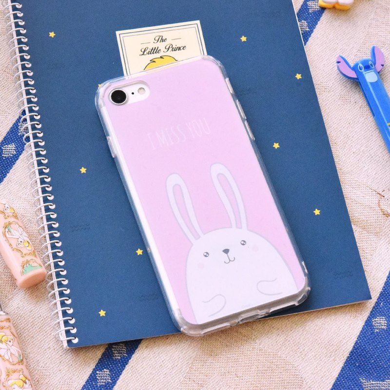 【RABBIT -PINK】ONOR CRYSTALS PHONE CASE
