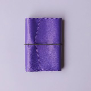 2019 leather hand book | A6 | purple blue | replaceable inside page