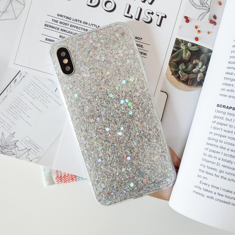 snowflake | case, phone case, glitter case, iphone case, samsung case