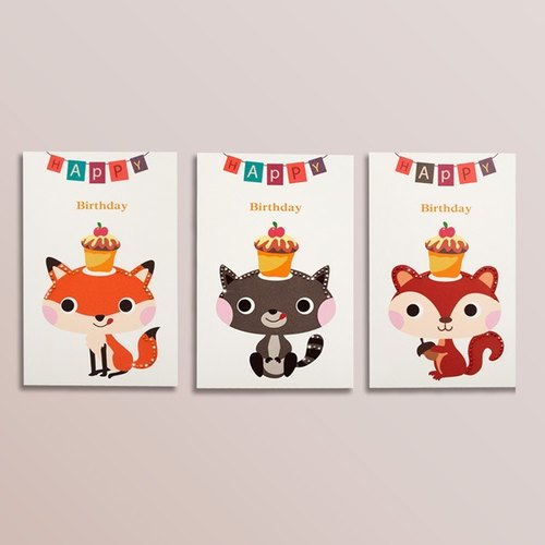 [] GFSD Rhinestone Collectibles - Hand Animal Birthday Card