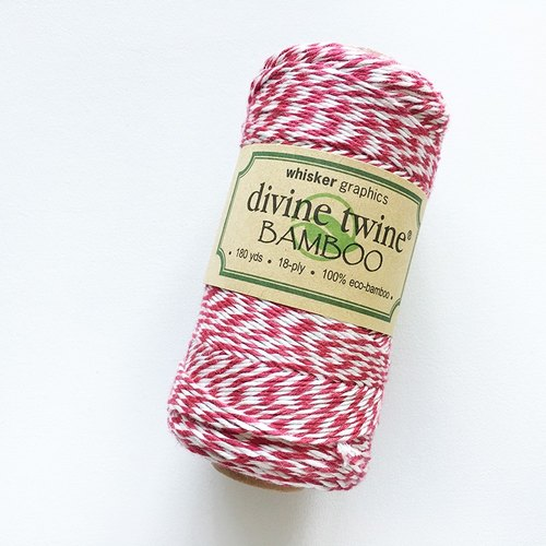 Whisker Graphics Divine Twine Bamboo (Red & White)