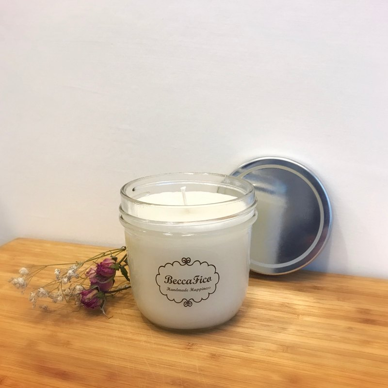 Rose & Vanilla Essential Oil Soy Candle 236g
