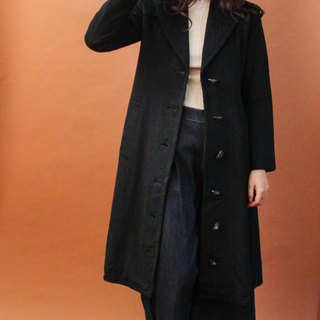 Vintage Autumn and Winter Slim Adults Black Knight Long Edition Vintage Coats Vintage Outer