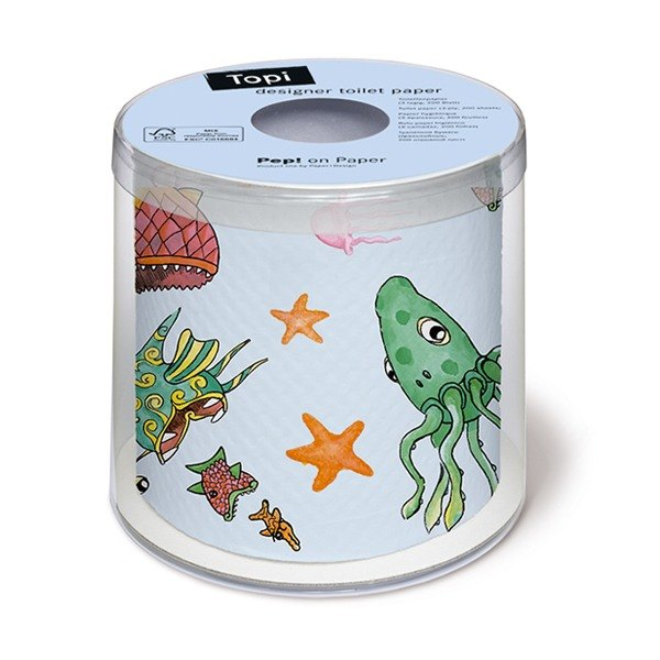 """Paper + Design"" toilet paper roll -Catch the fish"