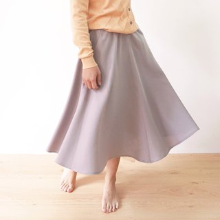 Harmony Gauze Midi Skirt - Grey Brown