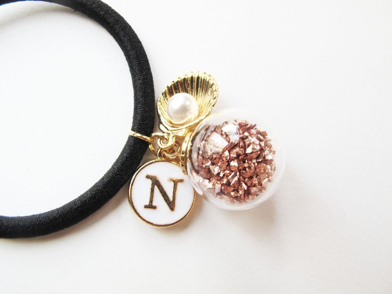 *Rosy Garden*Rose gold planet pieces with custom made english letter hair band