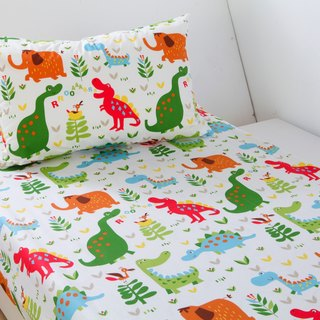 Anti-mite waterproof breathable cotton bedding bed bag pillow set <dinosaur world> double cleaning pad diapers mat waterproof pad