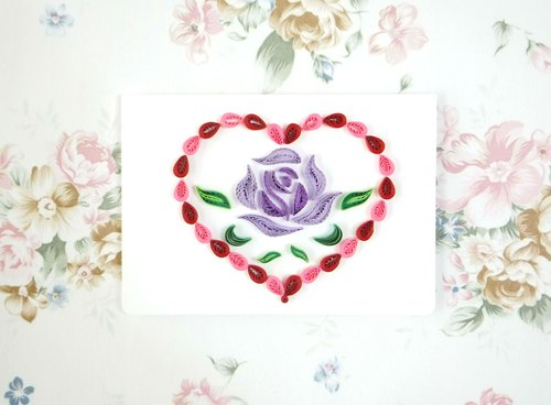 Hand made decorative cards-i love you everyday-Rose