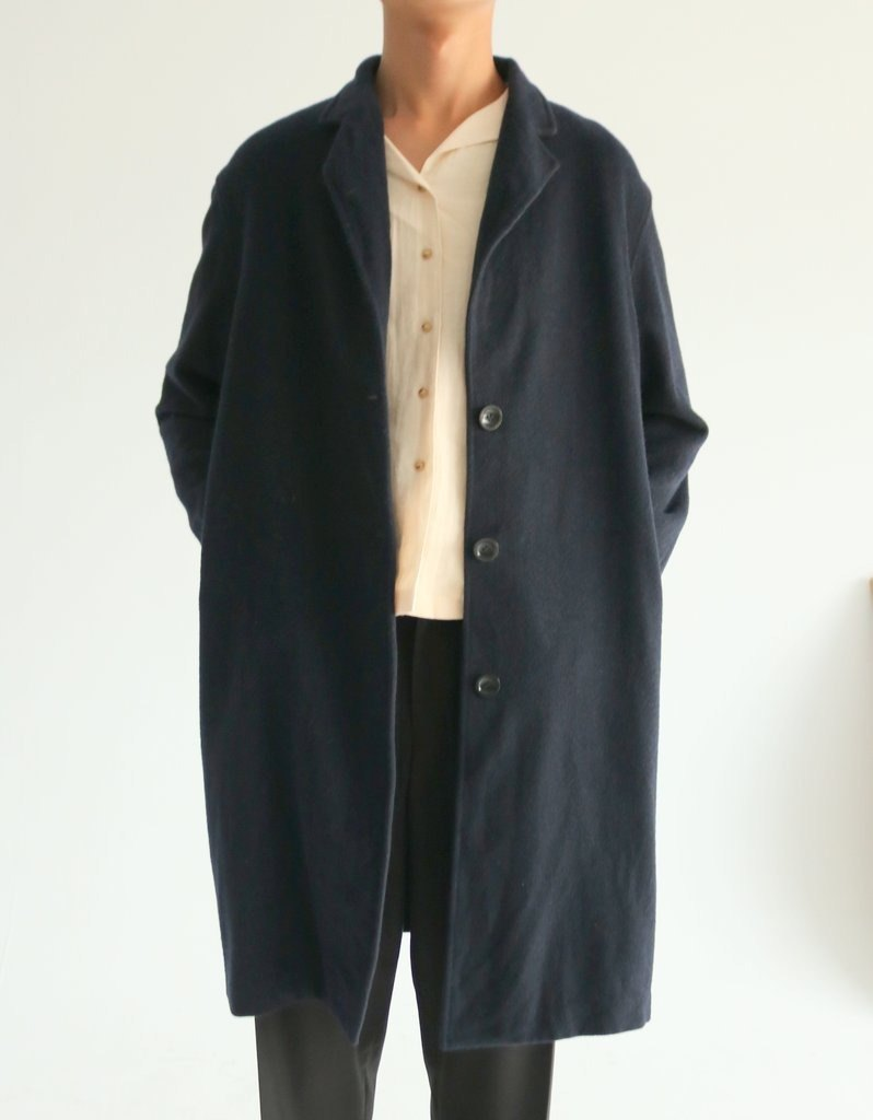 Zand Coat minimal cut blue blanket coat (can be customized other colors)
