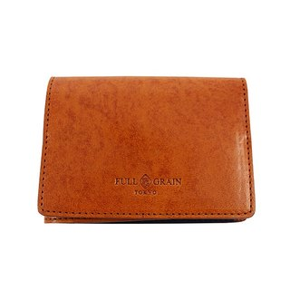FULLGRAIN │ classic simple two fold wallet card holder brown