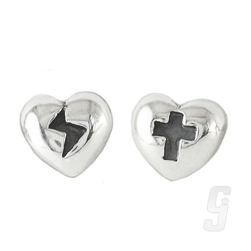 Festivals - love lightning jumping love cross earrings