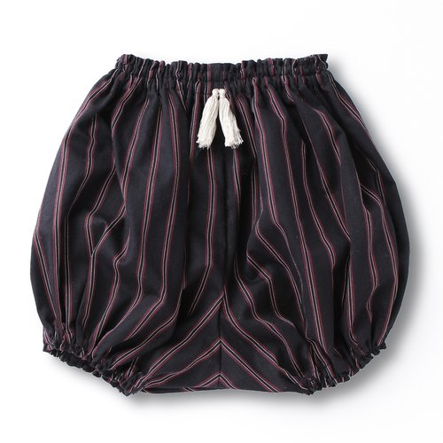 Pumpkin pants (dark blue regimen stripe × white gray)