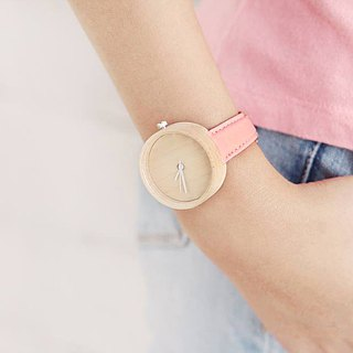 Wood Collection | Minimalist Handmade Watch Made of Wood – Pink