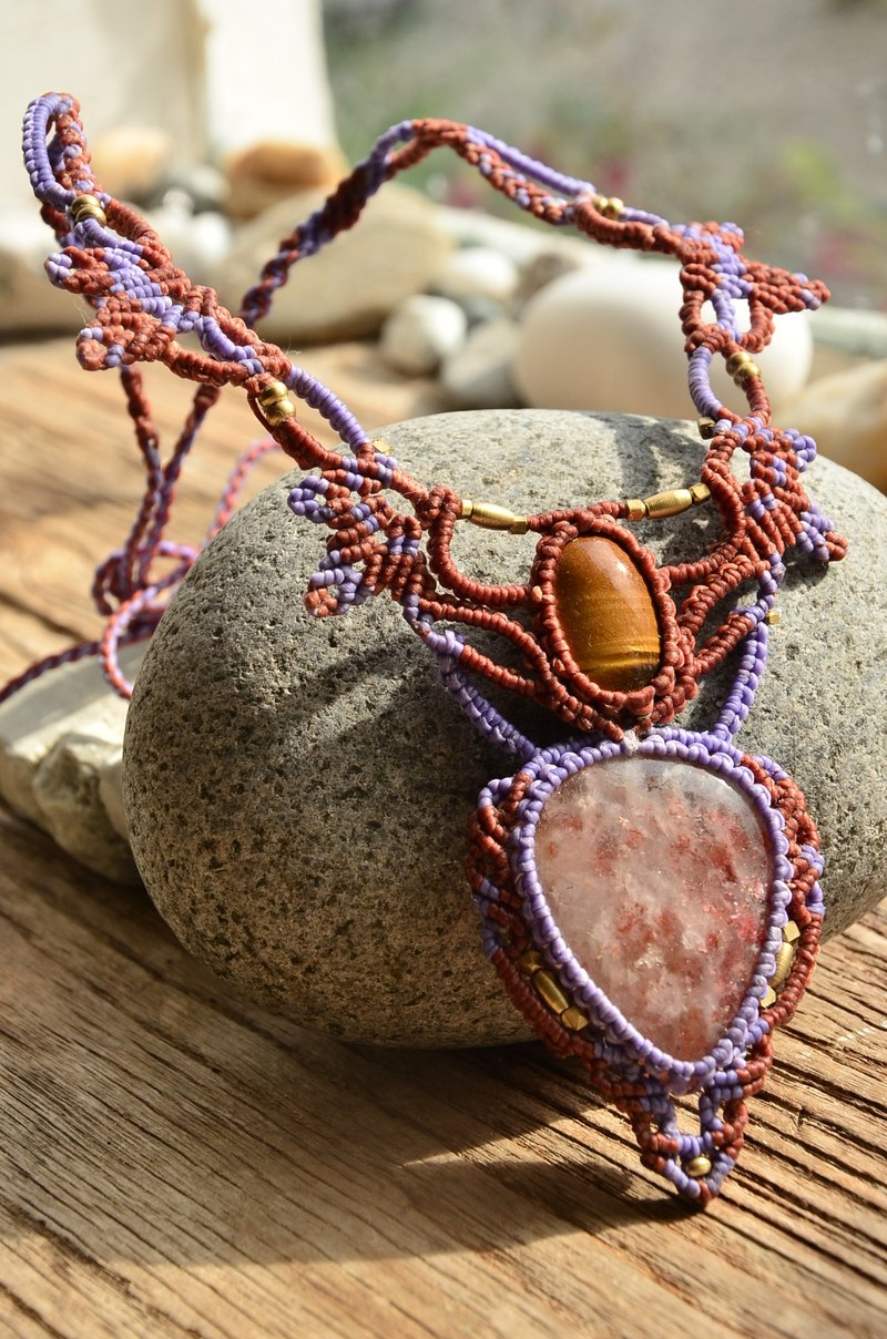 Sunstone  & Tiger Eye Macrame Jewellery