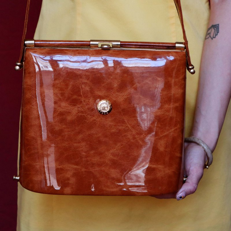 Pumpkin Vintage. Antique shoulder bag