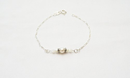 Natural Stone Series Pearl - Retro Pearl - 925 Silver Bracelet