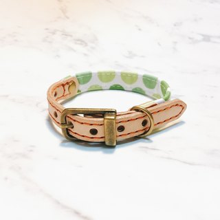 Dog collars, S size, light green watermelon_DCJ090411