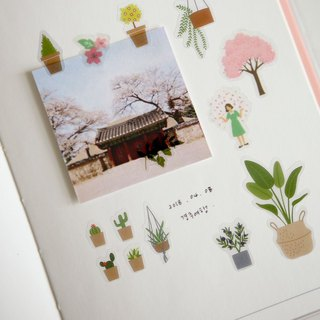 Beautiful decorative transparent stickers -26 plants, E2D08034