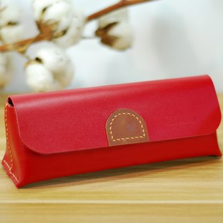Universal bag leather hand seam (red)