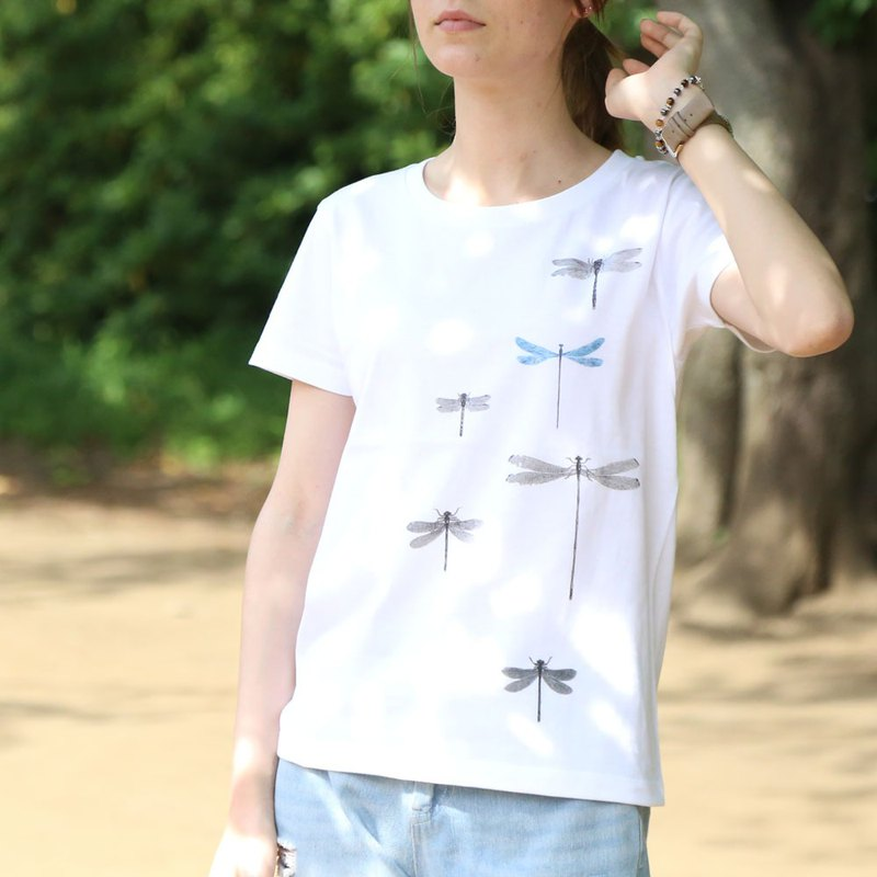 Dragonfly printed T-shirt - White - women's / men's / unisex