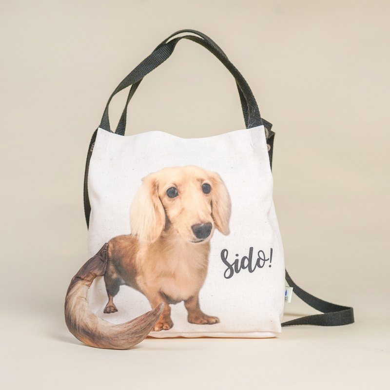 Customized handmade pet shoulder bag