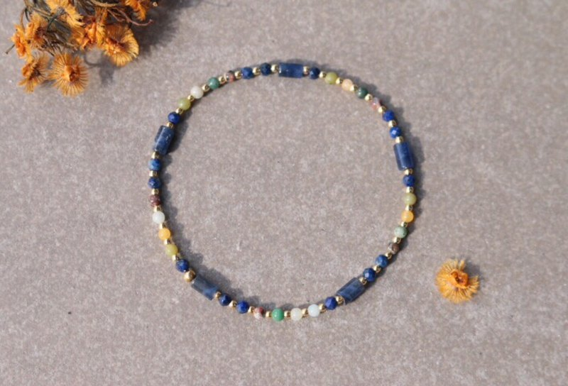 Soda stone natural stone brass bracelet 0598-good thing is near