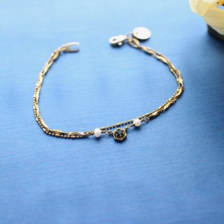 Melody-pearls brass bracelet