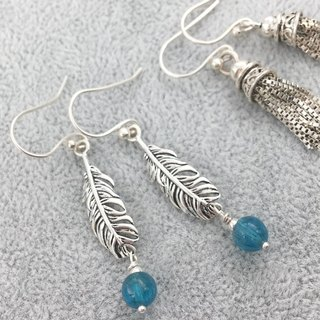 Apatite sterling silver earrings
