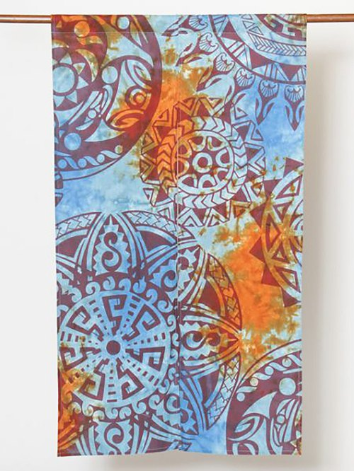 Pre-ordered mandala totem rendering curtain (three colors) IPFP82A2