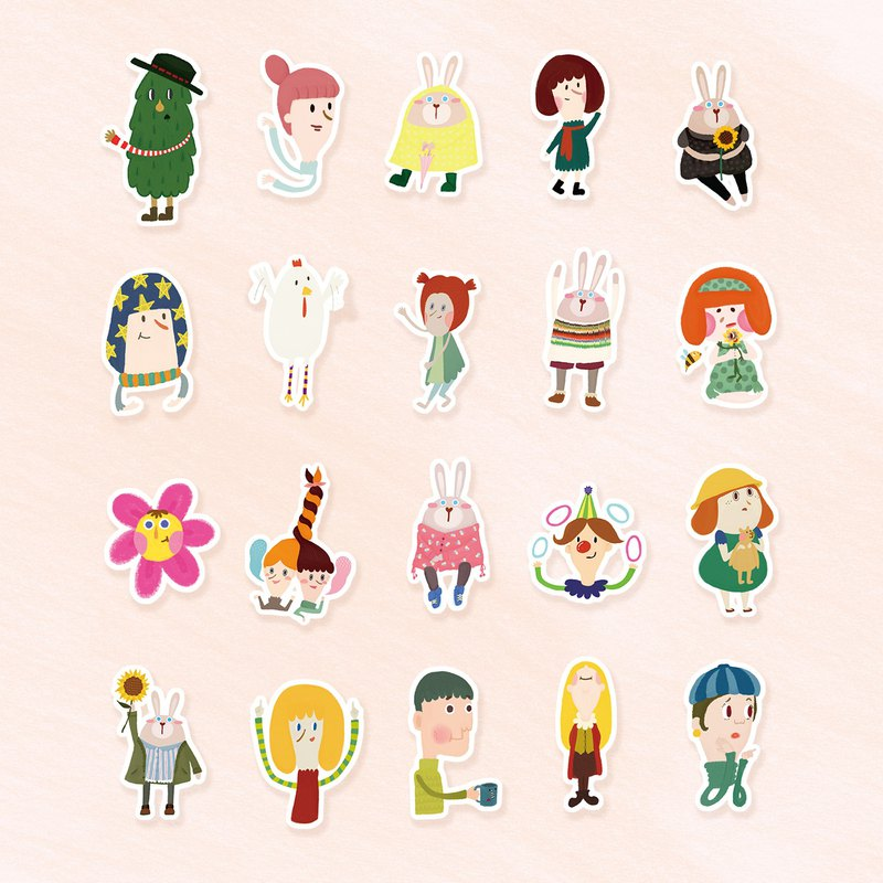 POSSIE illustration set stickers --- group optional