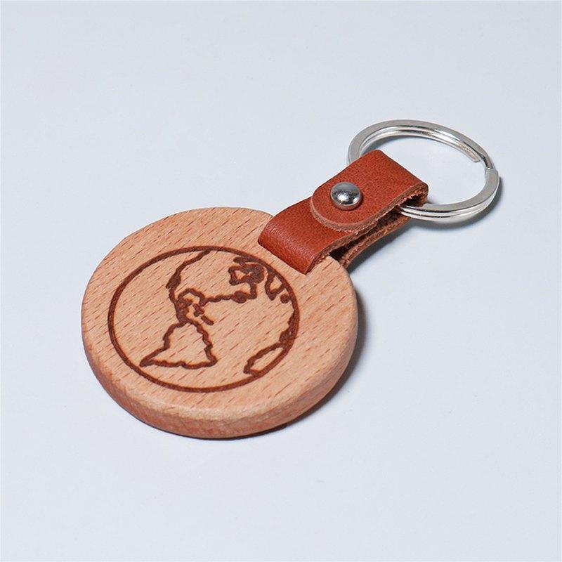 獨家 - 皮革鑰匙圈 /地球圖騰    生日  七夕 情人節  紀念日禮物
