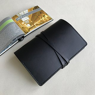 Emmanuel A6  Graphite Black Leather Notebook Cover