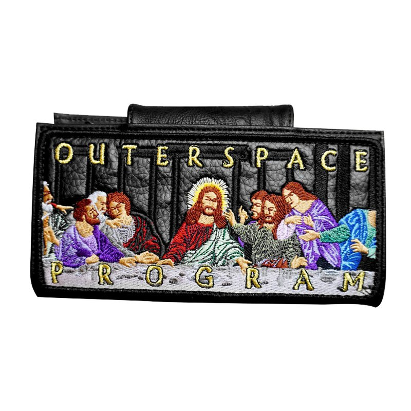 OUTER SPACE Last Supper Embroidered Long Wallet