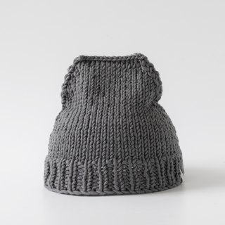 OTB109 ladder type hand-knitted cap - gray