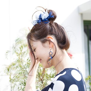 mini || Marine || Blooming Sakiami Colourful Hair Scrunchy || Hair Accessory