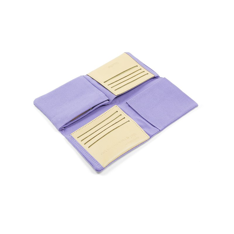 || Folded and folded wallet || Light purple
