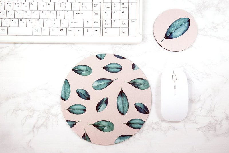 Botanical Leaves Mouse pad Coaster Set