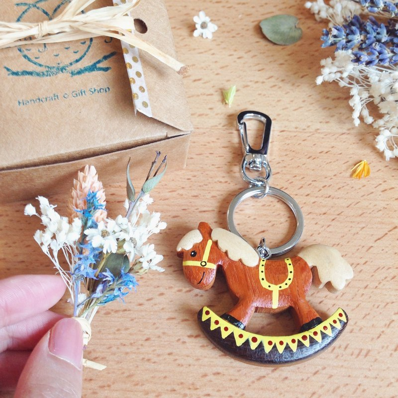 To dear people [dry flowers & handmade wooden key ring / charms (large)] exquisite gift box. Remembrance day / birthday gift. A variety of freedom of choice