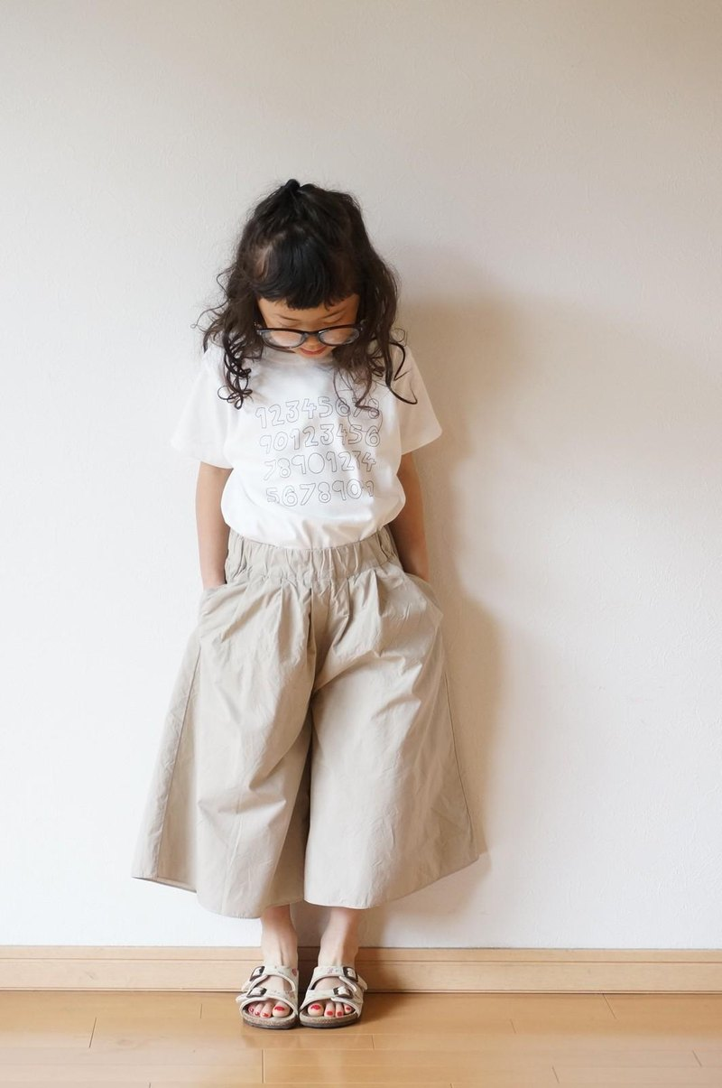 Cotton typewriter wide pants 90,100size