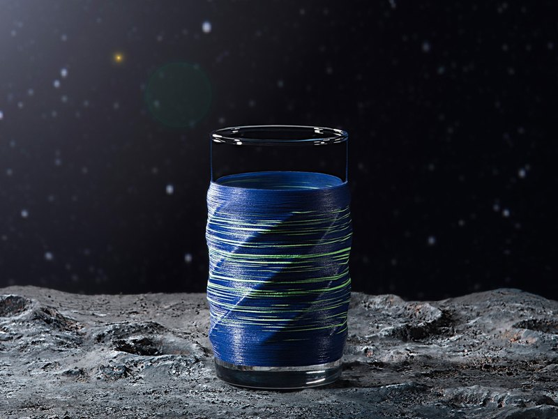 Line processing PUNNDLE line glass Galaxy Blue Galaxy